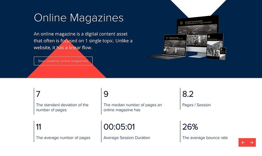 Digital publication benchmark 2018