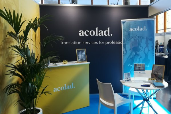 Acolad stand LocWorld Translation services