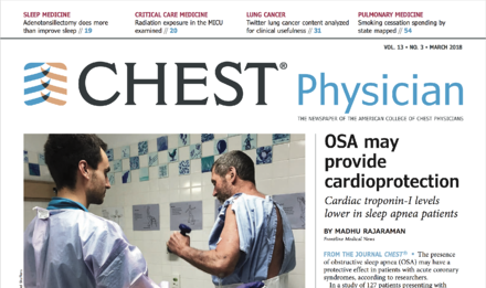CHEST Physician March Issue Screen Shot