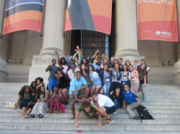 Day 1, Sunday, August 4 - The gang at the Franklin Institute in Philadelphia, Pennsylvania.