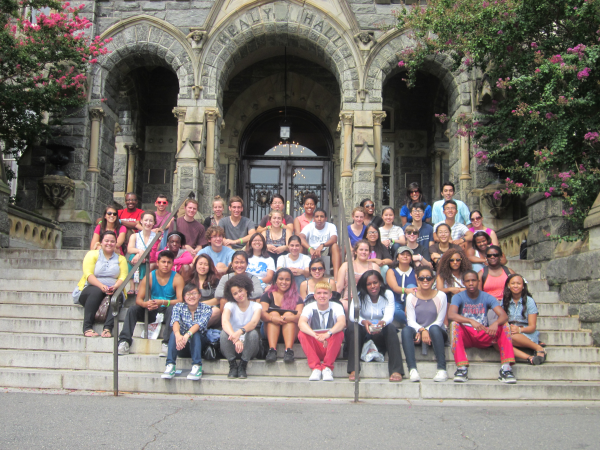 Day 5, Thursday, August 8 - The gang at Georgetown Universityin Washington, DC.