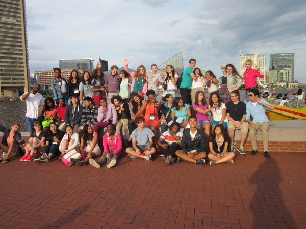 Day 2, Monday, August 5 - The gang in Baltimore, prior to boarding the Seadog Harbor Cruise.