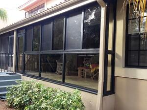 A Glass Enclosed Lanai With Impact Windows Adds Value To