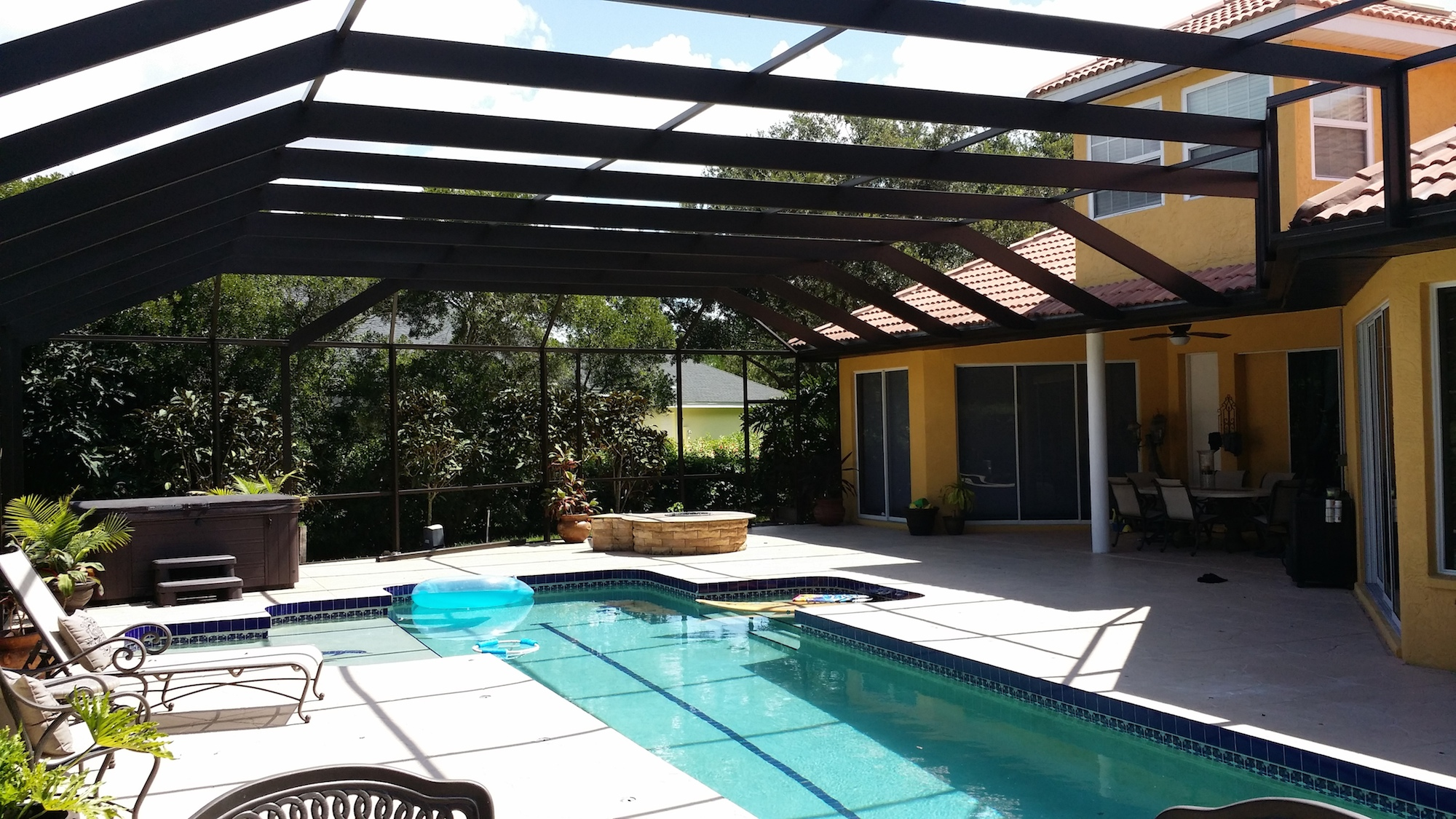 Screen enclosures for Pool screen privacy