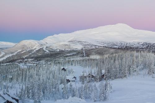 Snowy Swedish mountains