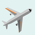 tilted-airplane-icon