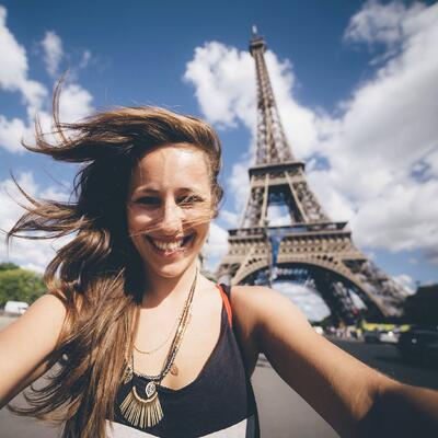 Student traveler studying abroad in Paris