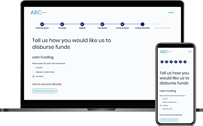 Unqork's Small Business Lending Platform