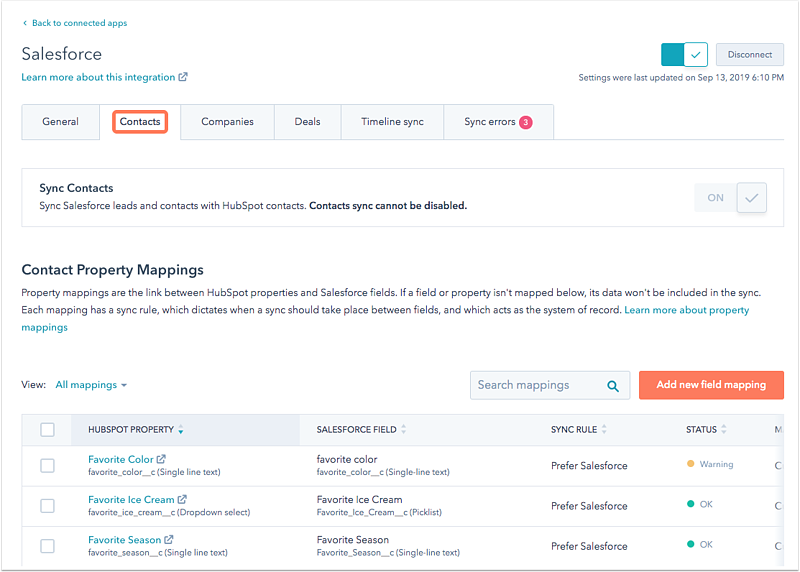 salesforce-contact-mapping