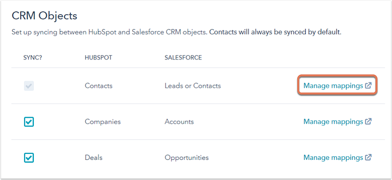 salesfore-settings-manage-contact-mappings