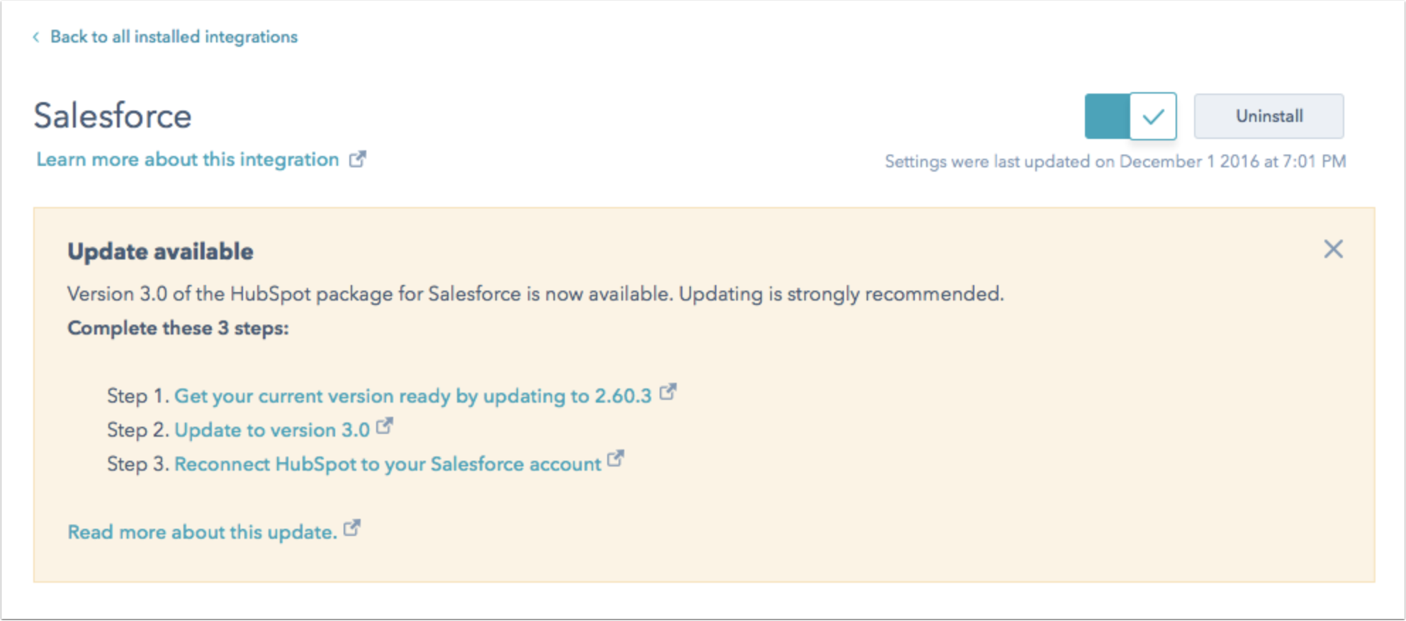 update-salesforce-package-banner