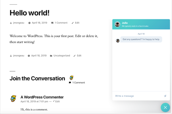 chatflow-on-wordpress-site