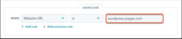 wordpress-chatflow-targeting