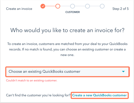 select-customer-quickbooks