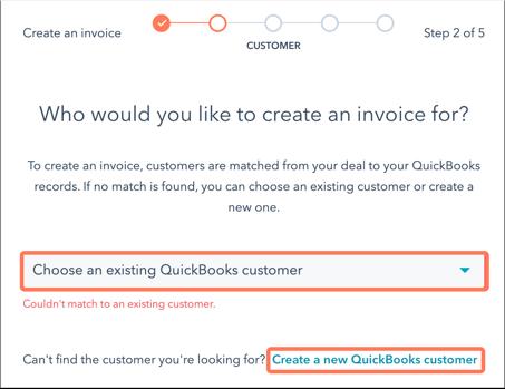 select-customer-quickbooks