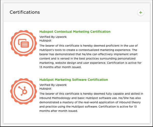 Upwork-certificate-profile