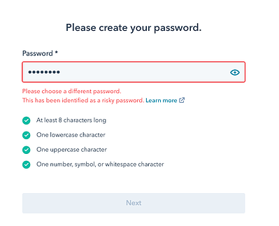 risky-password-detected
