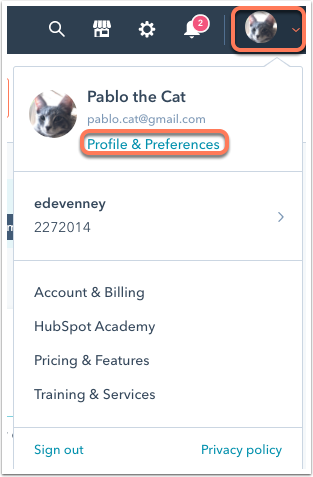 profile-and-preferences-menu