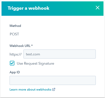 Use webhooks with HubSpot workflows