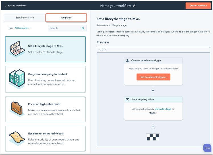 Create contact-based workflows