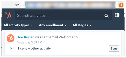 activity-feed-chrome-extension-sent-email