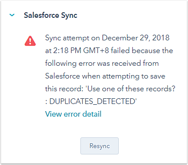 Salesforce integration sync triggers