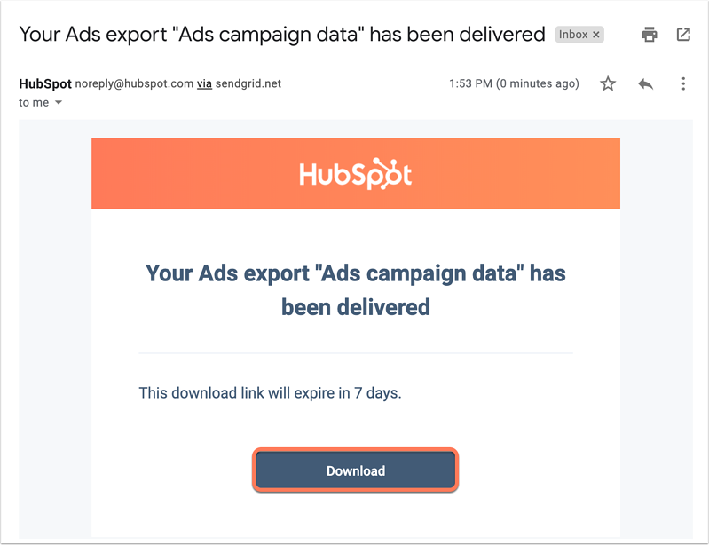 export-ad-campaign-data-email