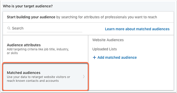 linkedin-matched-audiences