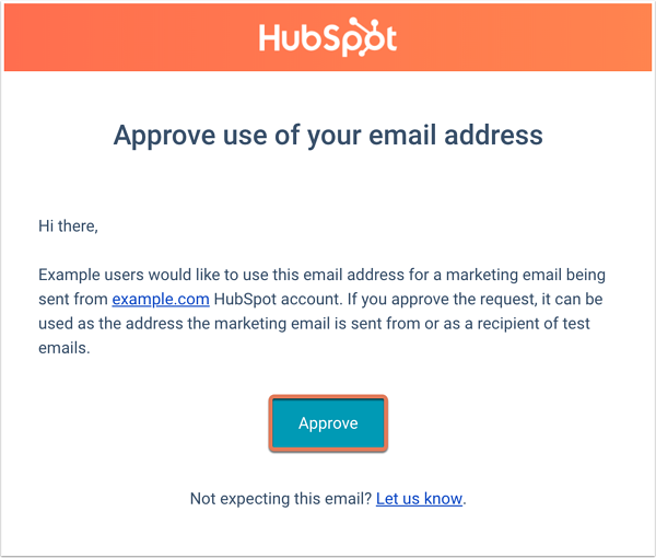 Verify the email address used to send marketing emails