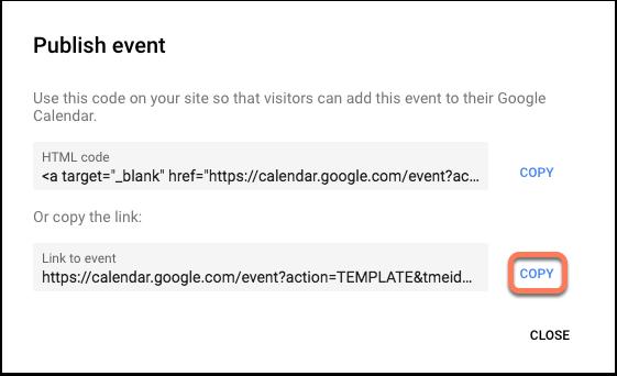 google-calendar-publish-event