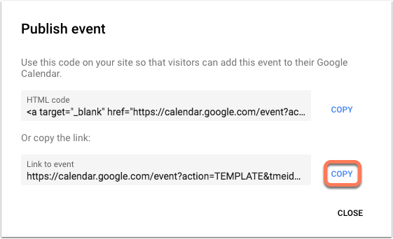 google-calendar-publish-event