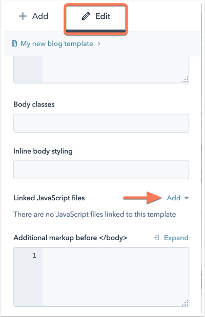 Add a JavaScript file to HubSpot