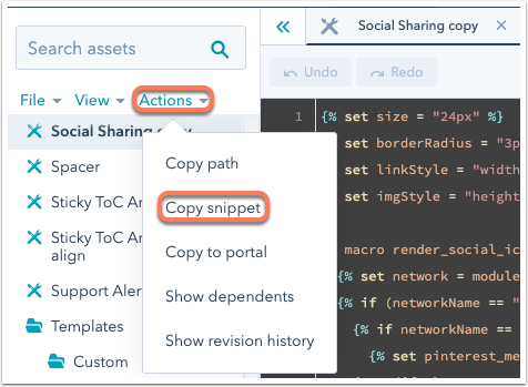 design-manager-copy-module-snippet