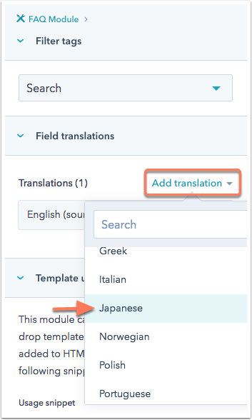 select-translation-language