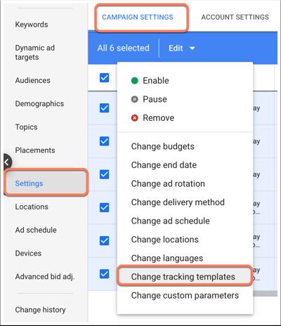 google-ads-template-campaign-level