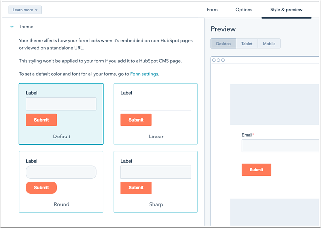 Create forms