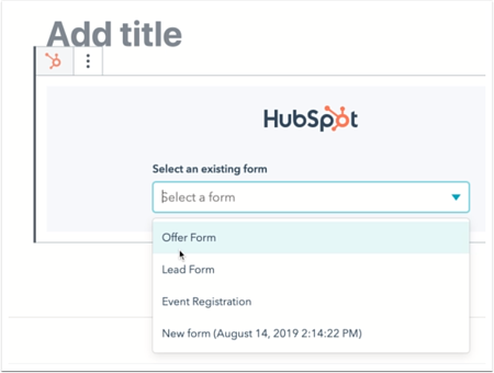 wordpress-hubspot-form-select-an-existing-form