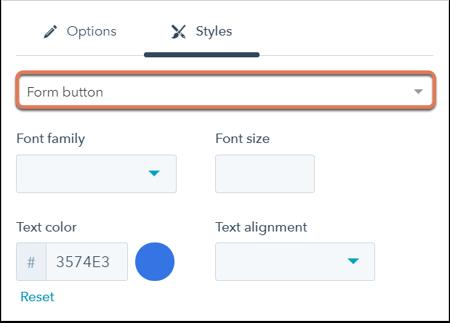 Edita y asigna estilos al botón de envío de tu formulario