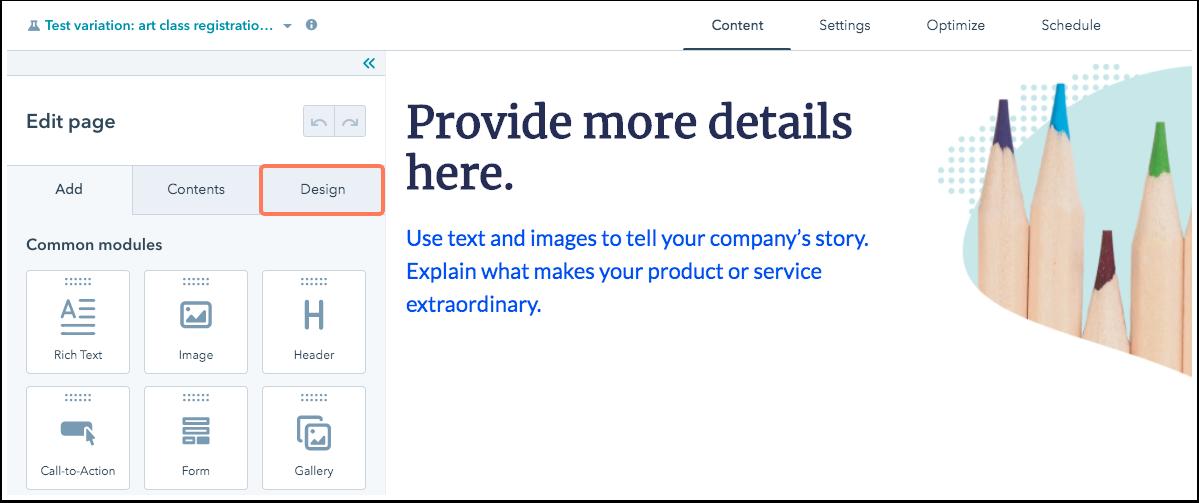 design-tab-options