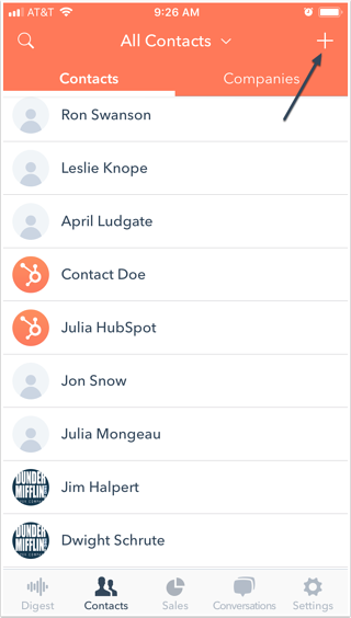 Add Contacts To HubSpot With The Mobile App Business Card Scanner