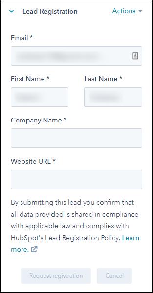 Register partner leads