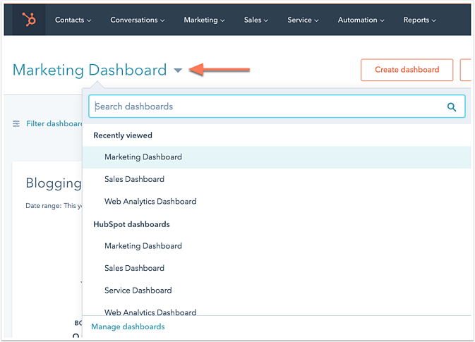 export your hubspot dashboards
