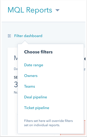 customize your dashboard settings