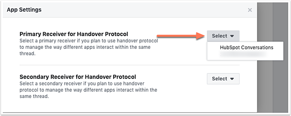 primary-receiver-for-handover-protocol