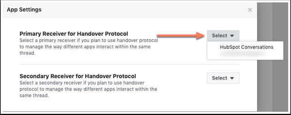 primary-receiver-for-handover-protocol