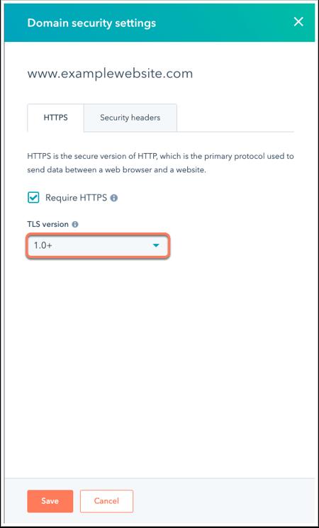 Versión TLS