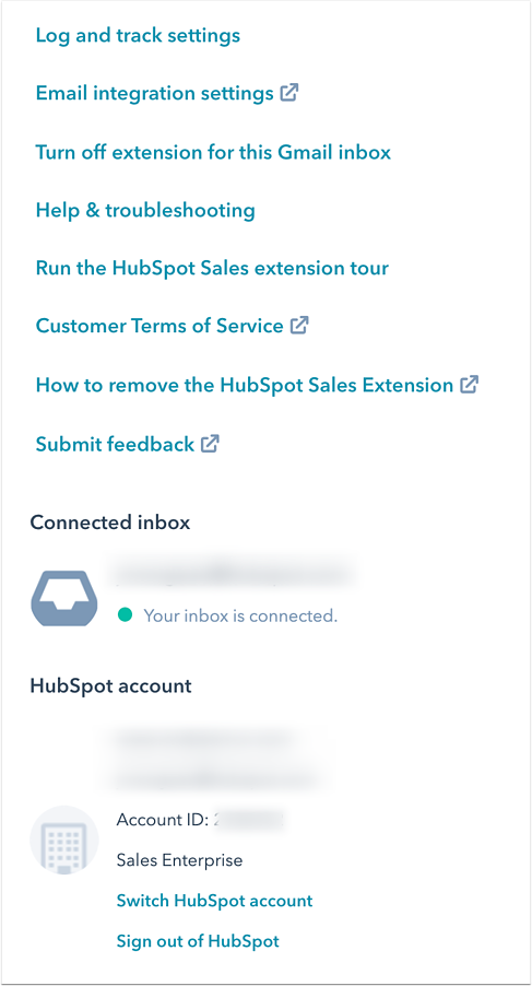 hubspot-gmail-extension-settings
