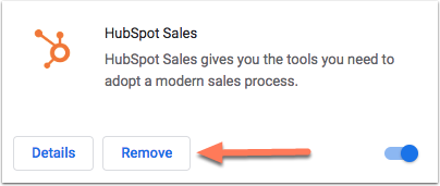 remove-hubspot-sales-extension