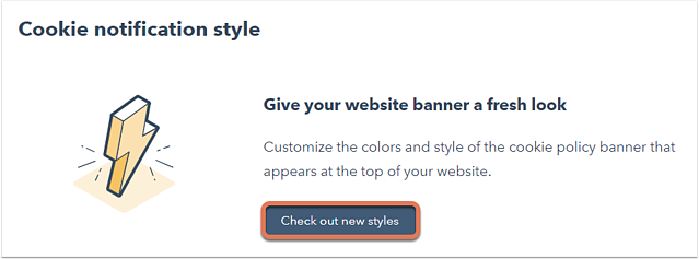 customize your cookie policy banner