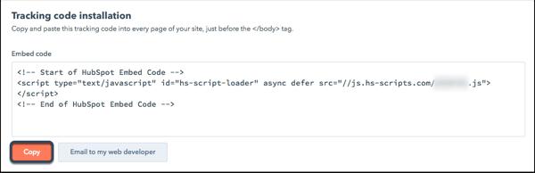 Вэб сайтаа холбох Settings -> Reports and Analytics Tracking цэсийг сонгож дараах байдлаар харагдах мөрдөх кодыг олж аван вэб сайтынхаа толгой хэсэг буюу <head> таг дотор байршуулаарай. Settings цэс рүү арааны зургийг дарж орно уу.